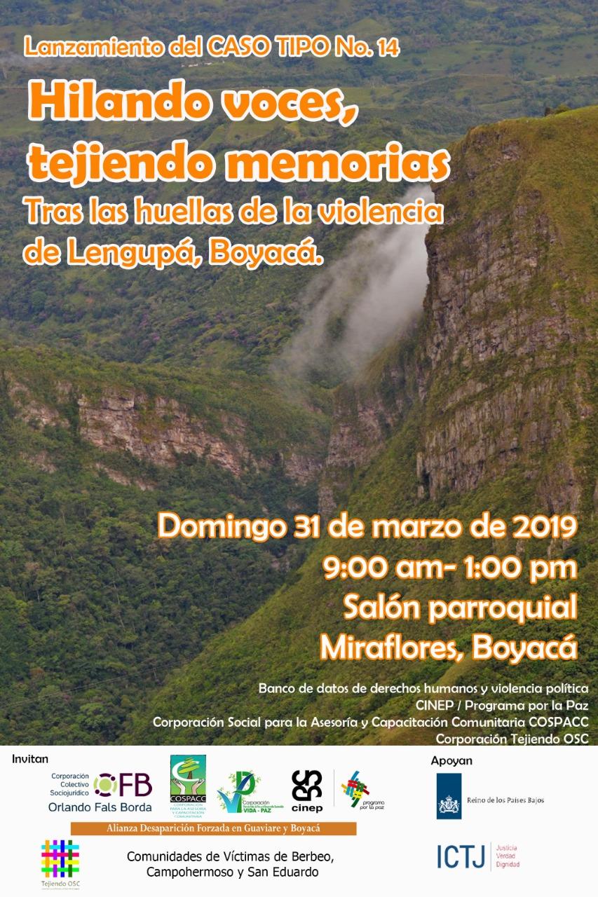 Presentación caso tipo parcial sobre violencia política en la provincia de Lengupá Boyacá.